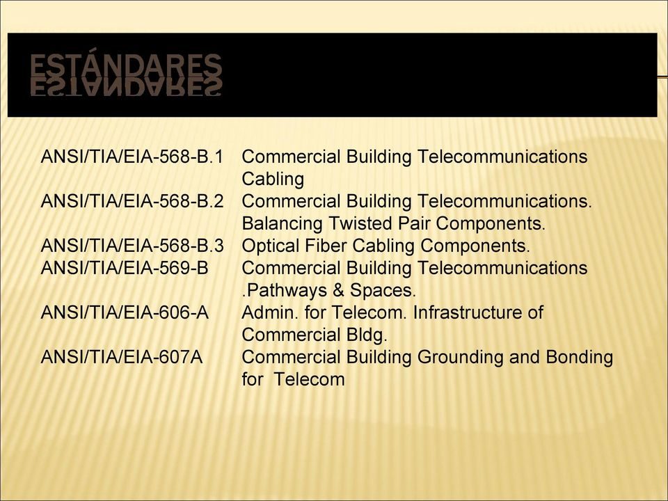 3 Optical Fiber Cabling Components. ANSI/TIA/EIA-569-B Commercial Building Telecommunications.