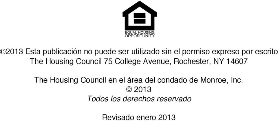 Rochester, NY 14607 The Housing Council en el área del condado