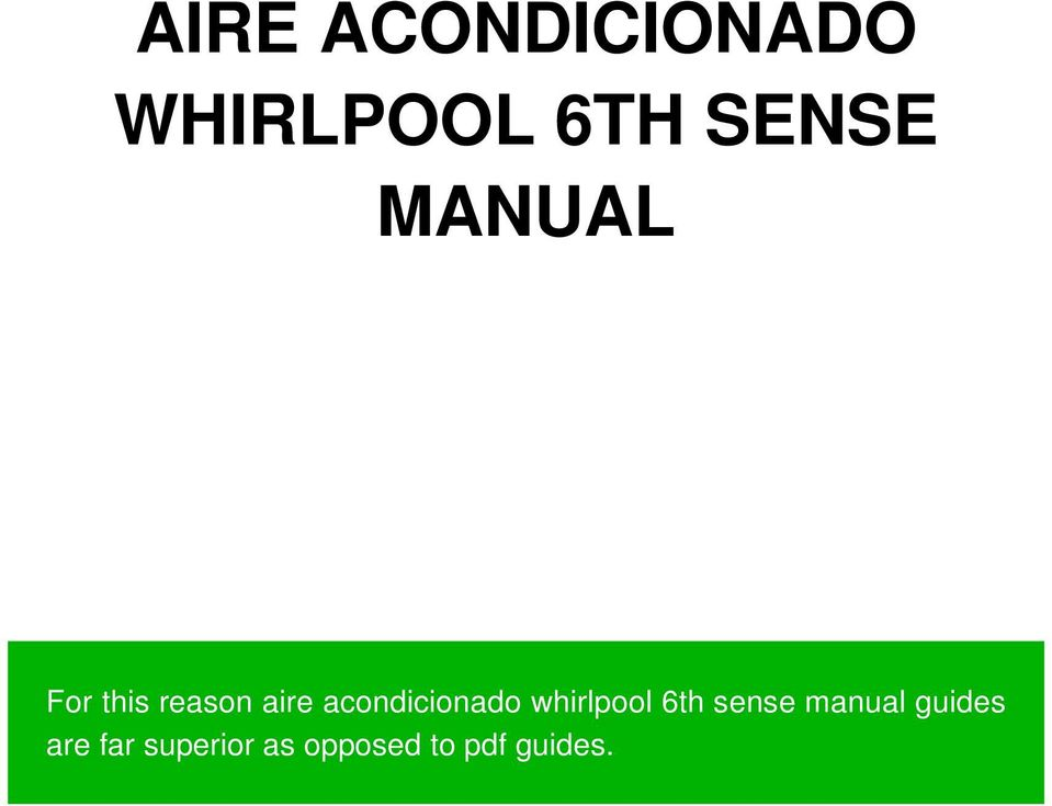 acondicionado whirlpool 6th sense