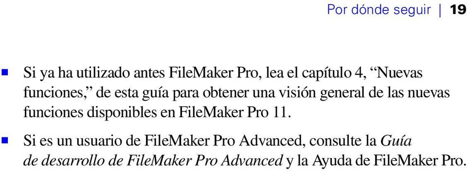 funciones disponibles en FileMaker Pro 11.