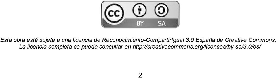 0 España de Creative Commons.