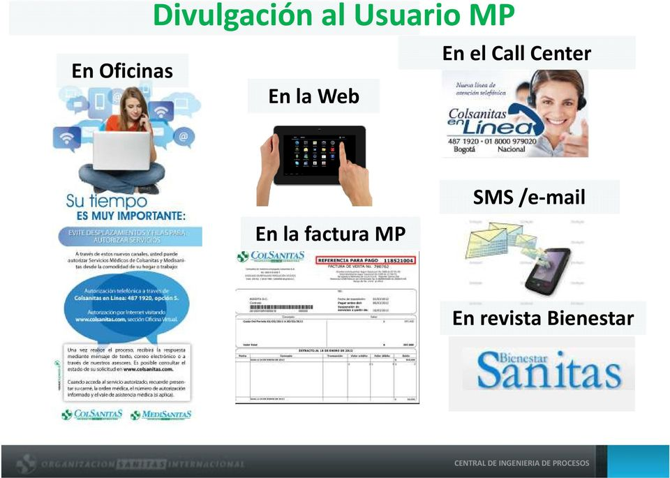 CallCenter En la factura MP