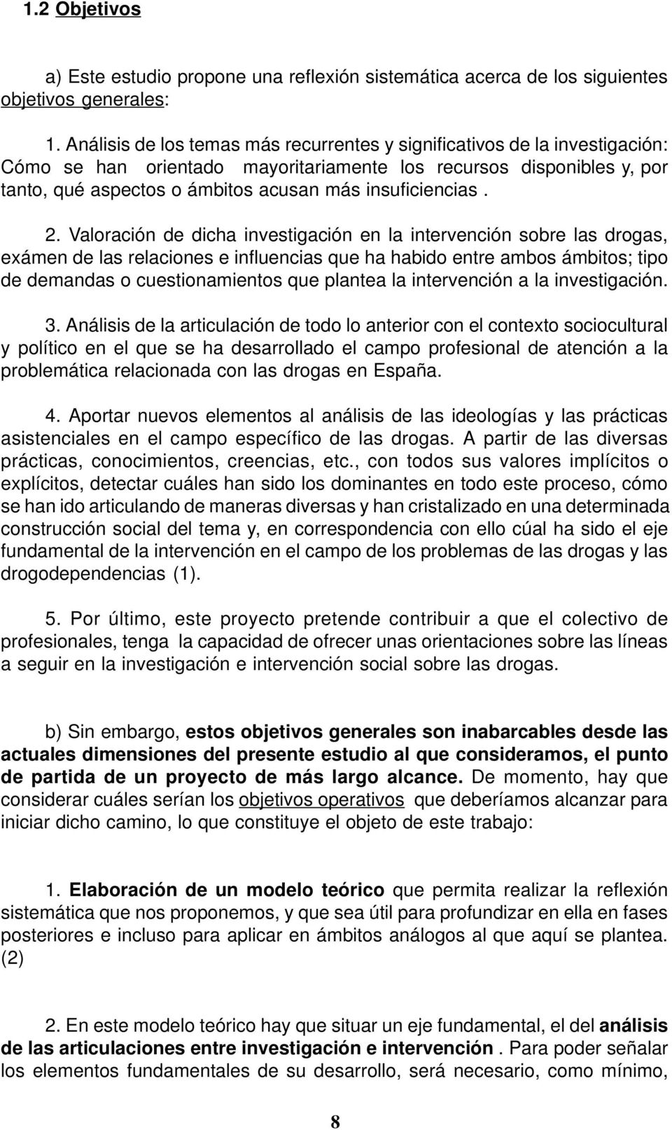 insuficiencias. 2.
