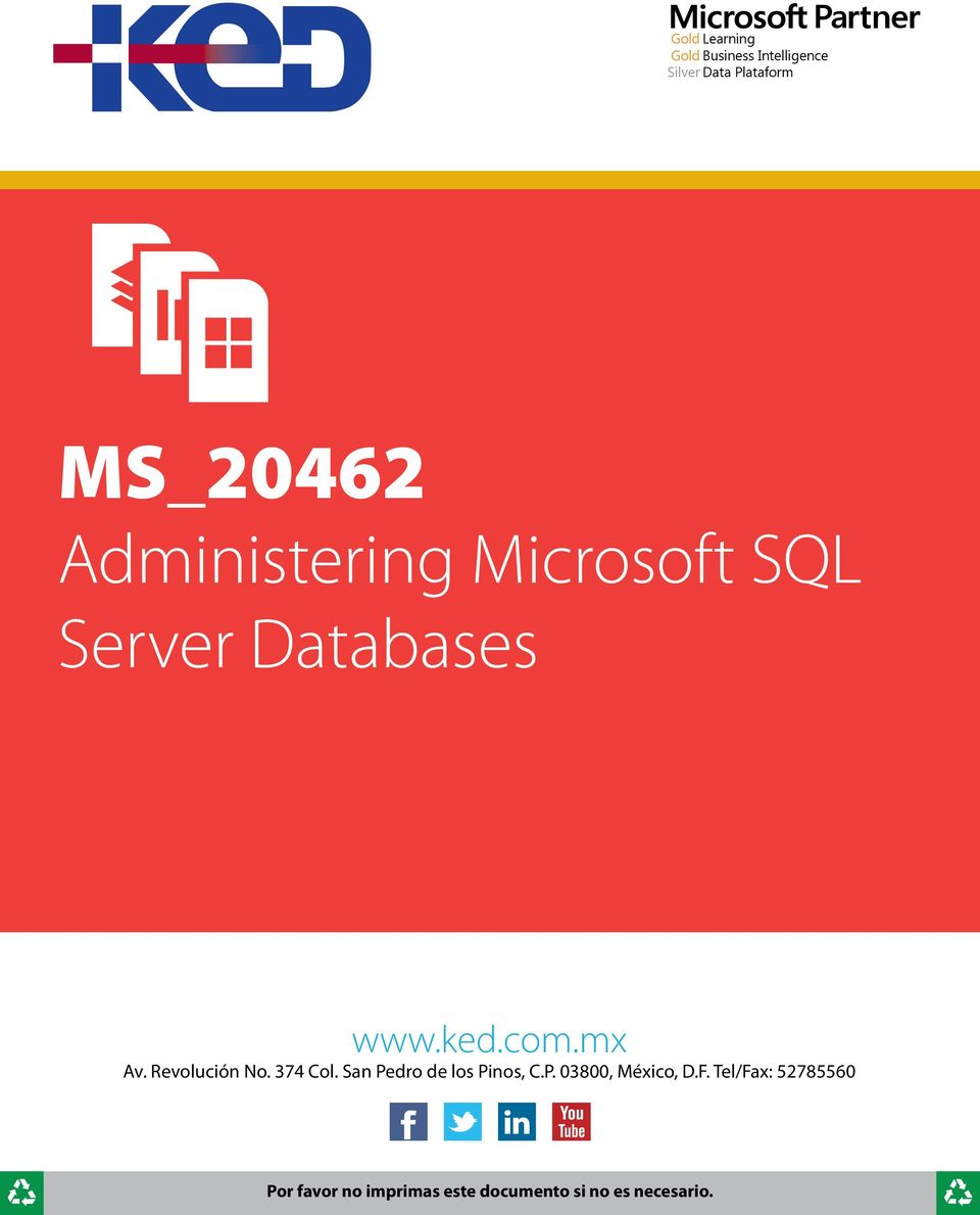 Microsoft SQL Server Databases www.ked.com.