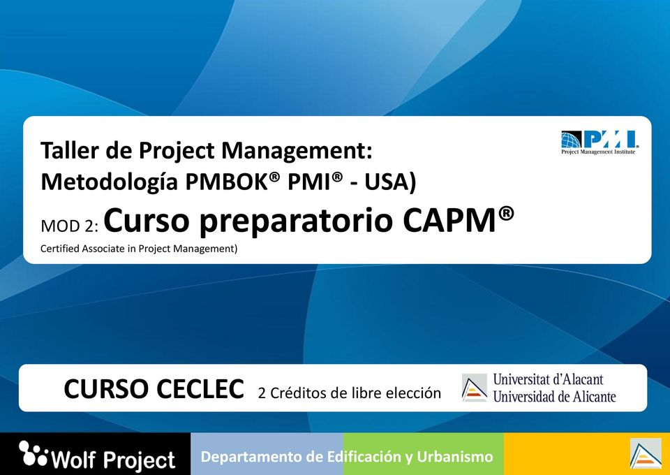 CAPM Certified Associate in Project