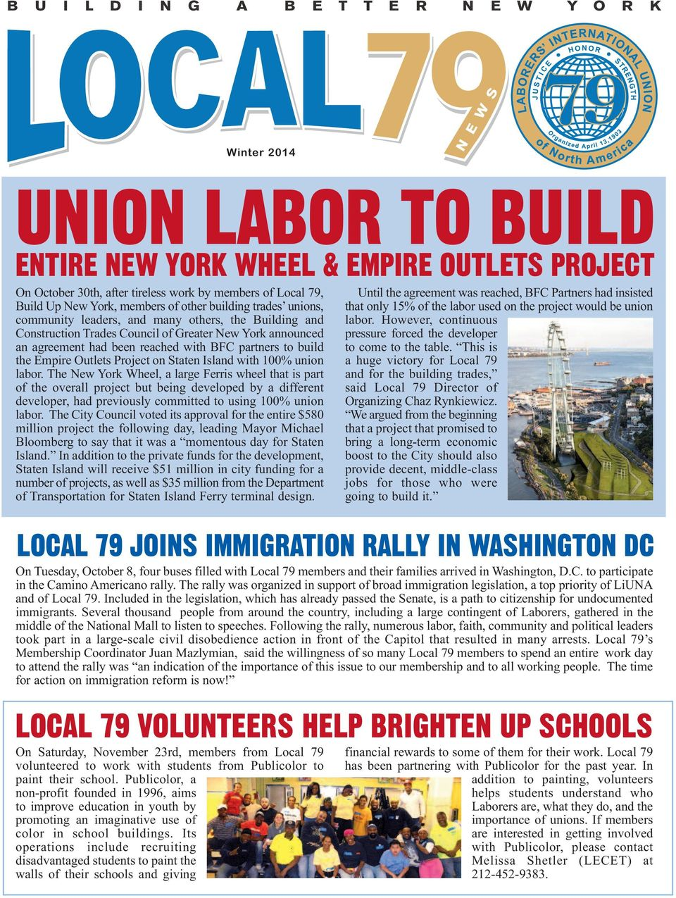 Project on Staten Island with 100% union labor.
