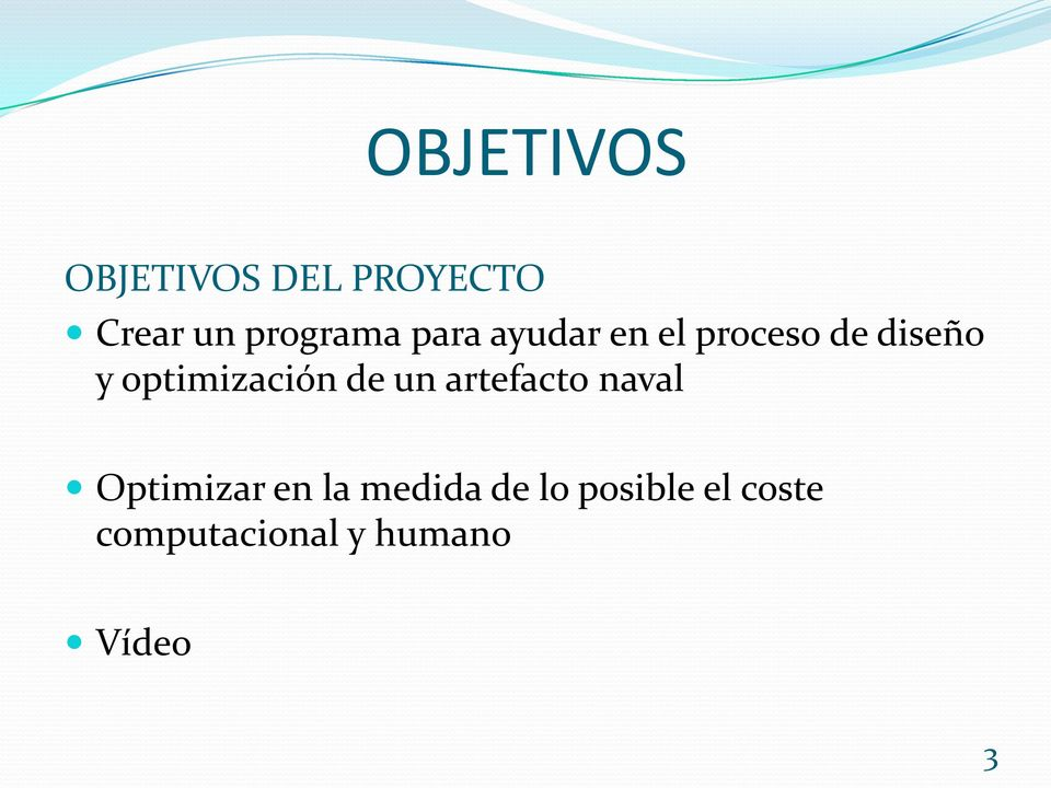 optimización de un artefacto naval Optimizar en