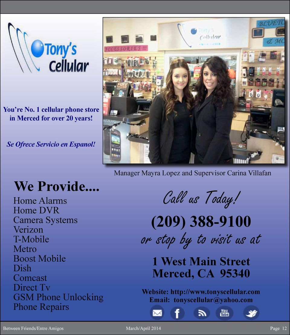 Repairs Manager Mayra Lopez and Supervisor Carina Villafan Call us Today!