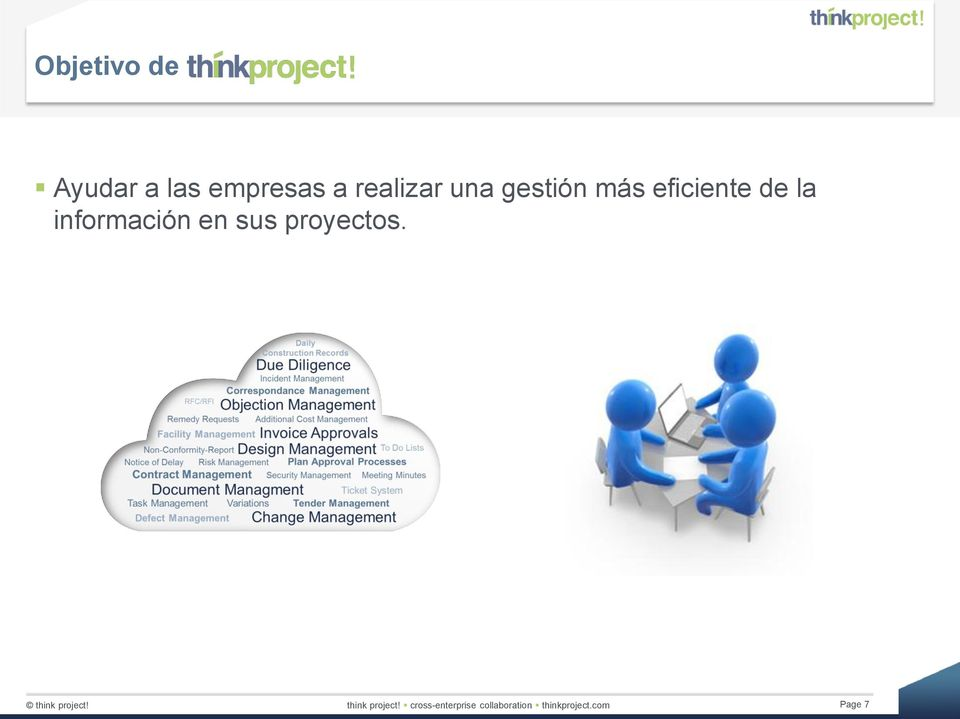 sus proyectos. think project!