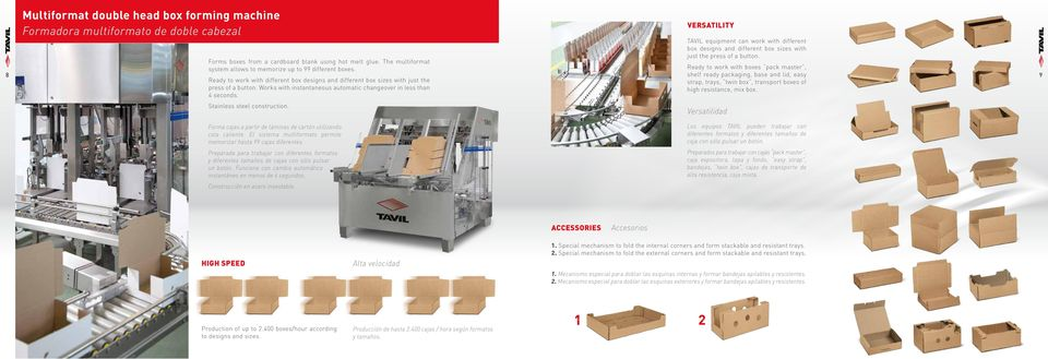 Ready to work with boxes pack master, 8 shelf ready packaging, base and lid, easy 9 Ready to work with different box designs and different box sizes with just the strap, trays, twin box, transport