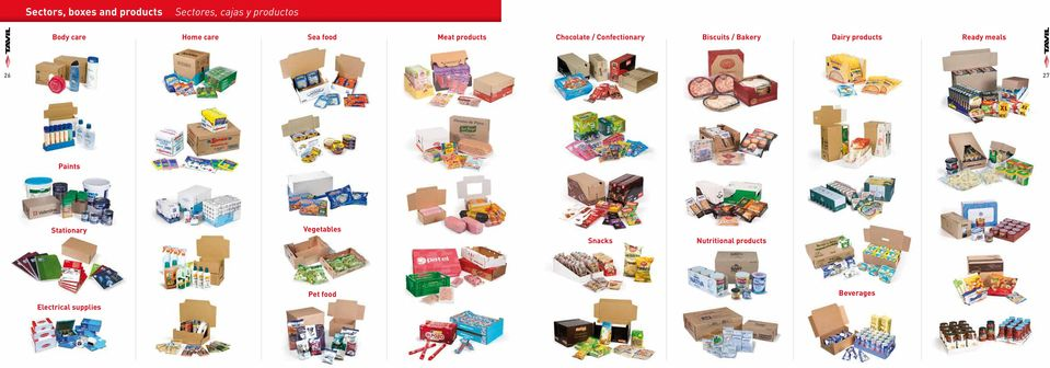 / Bakery Dairy products Ready meals 26 27 Paints Stationary