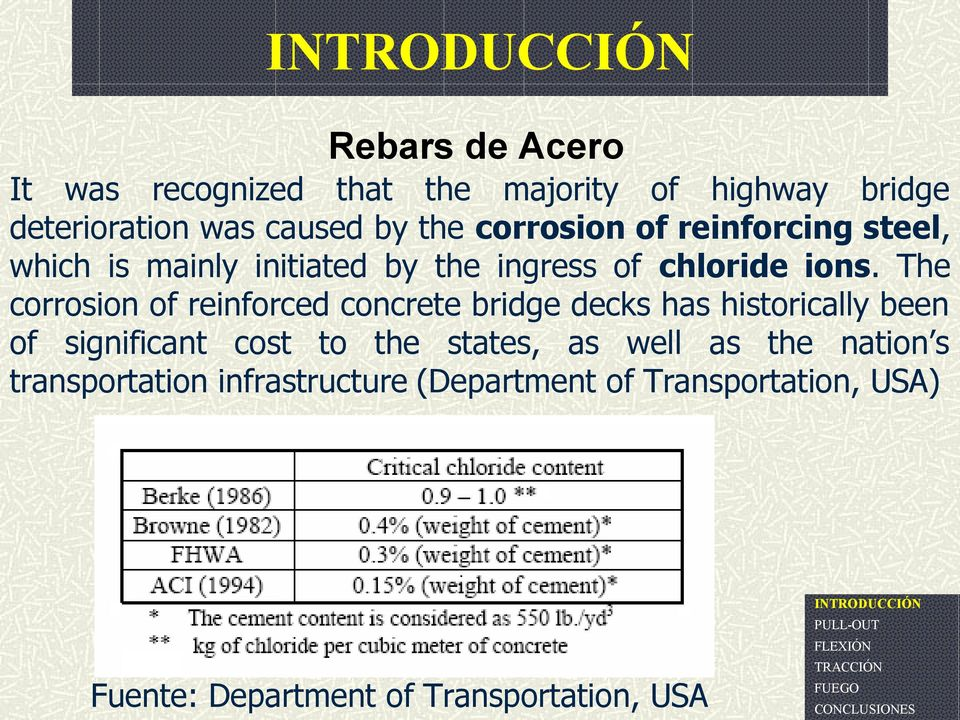The corrosion of reinforced concrete bridge decks has historically been of significant cost to the states,