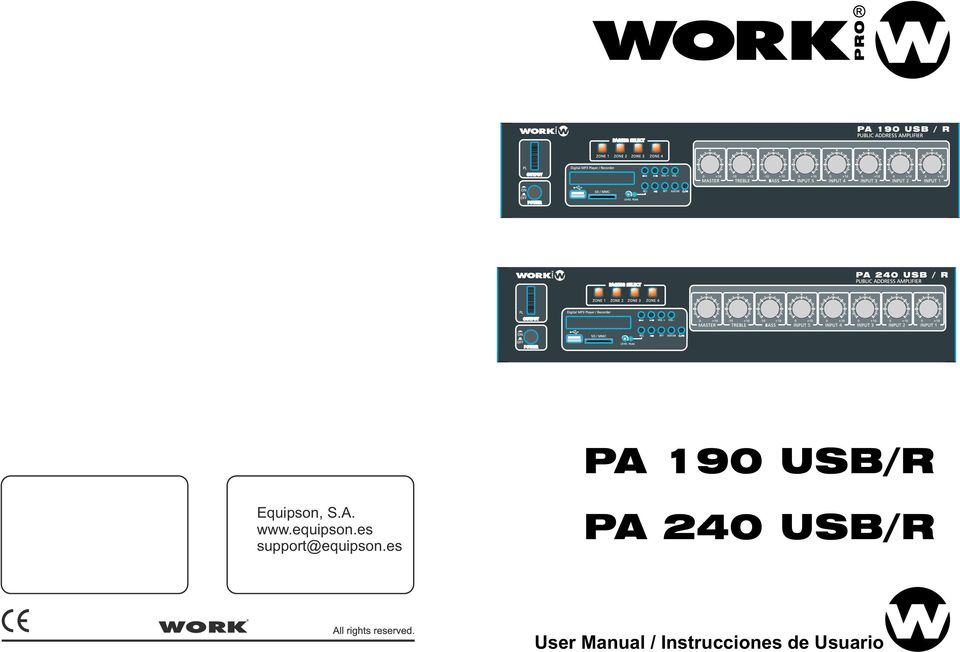 es PA 240 USB/R User Manual