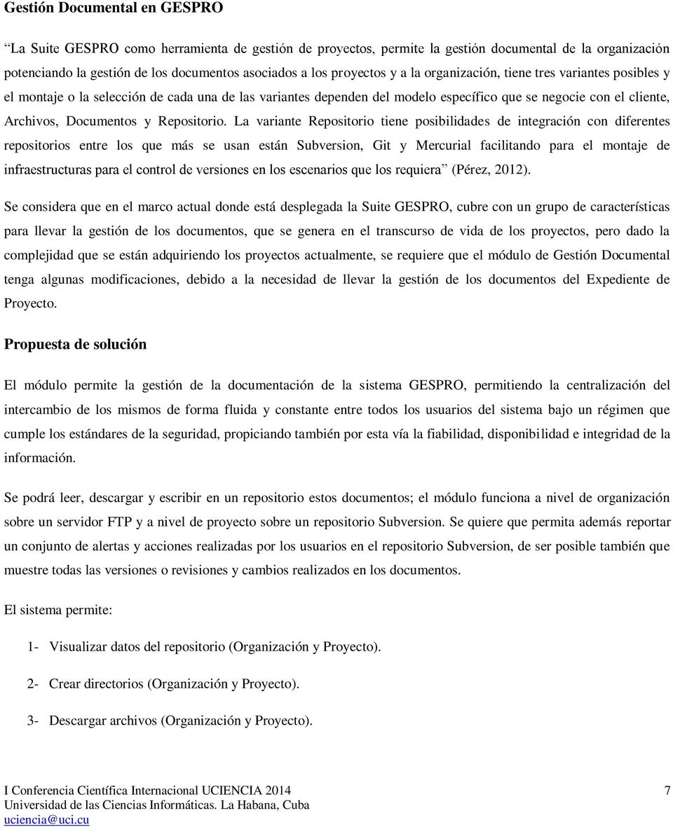 Documentos y Repositorio.