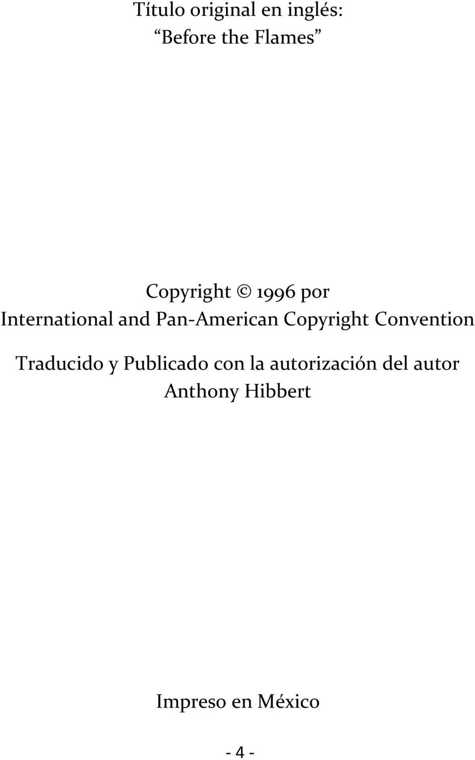 Copyright Convention Traducido y Publicado con la