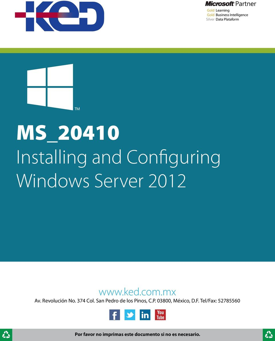 Configuring Windows Server 2012 www.ked.com.