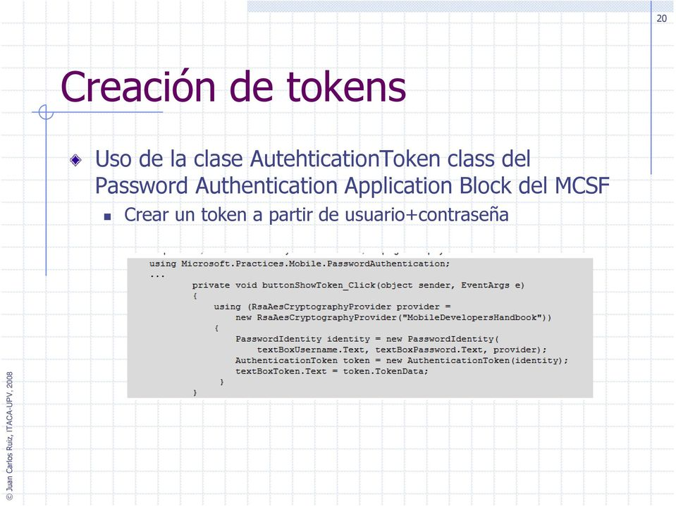Authentication Application Block del