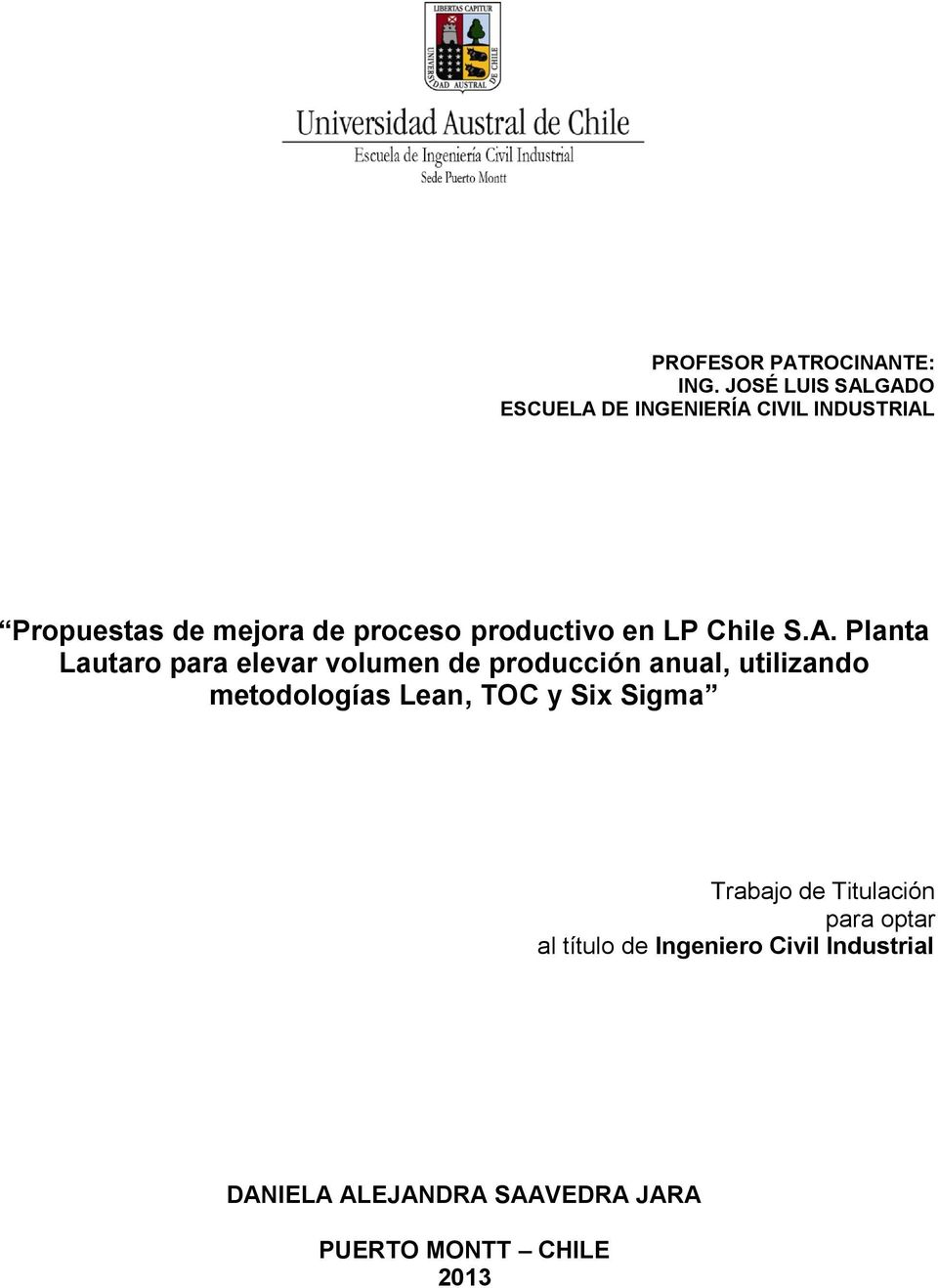 productivo en LP Chile S.A.