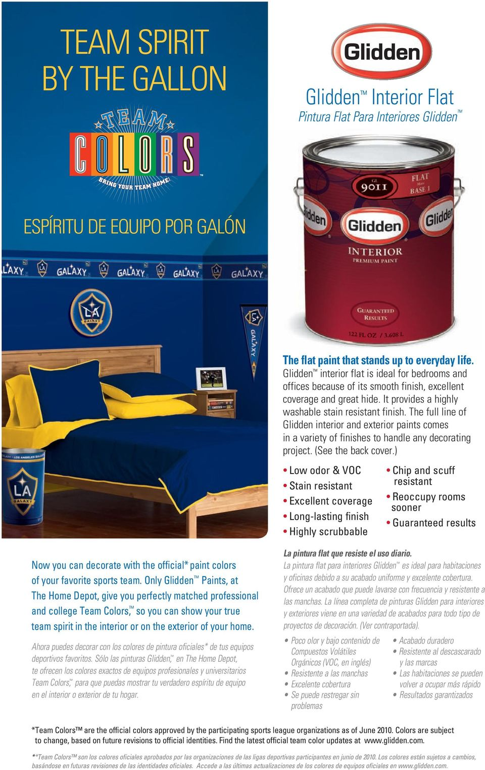 The full line of Glidden interior and exterior paints comes in a variety of finishes to handle any decorating project. (See the back cover.