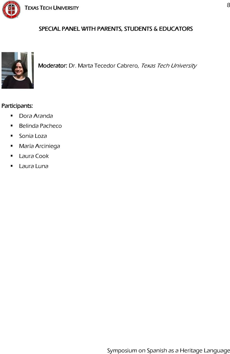 Marta Tecedor Cabrero, Texas Tech University