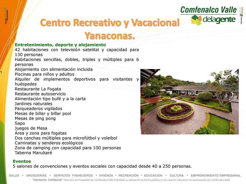 Descripci n centros recreativos comfenalco valle pdf for Implementos restaurante