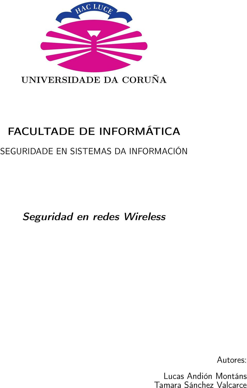 INFORMACIÓN Seguridad en redes Wireless