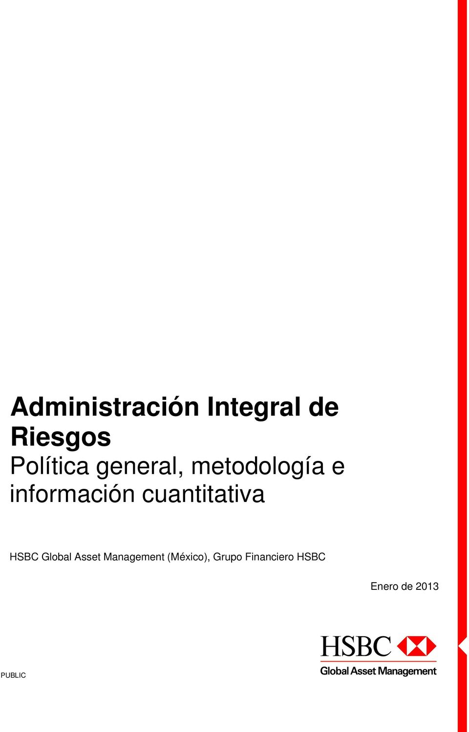 cuantitativa HSBC Global Asset Management