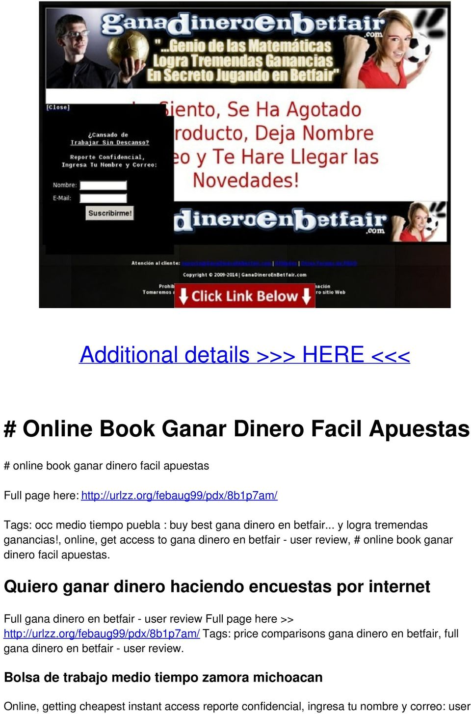 , online, get access to gana dinero en betfair - user review, # online book ganar dinero facil apuestas.