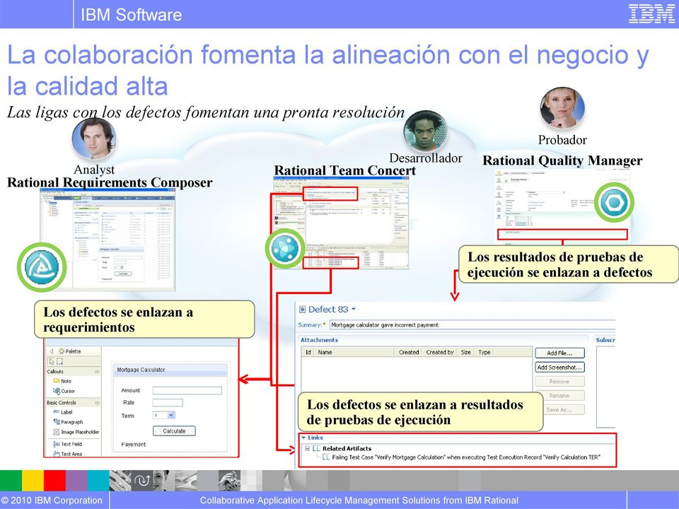 Rational Team Concert Rational Quality Manager Los resultados de pruebas de ejecución se enlazan a
