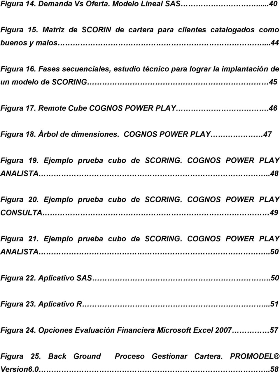 COGNOS POWER PLAY 47 Figura 19. Ejemplo prueba cubo de SCORING. COGNOS POWER PLAY ANALISTA..48 Figura 20. Ejemplo prueba cubo de SCORING. COGNOS POWER PLAY CONSULTA 49 Figura 21.