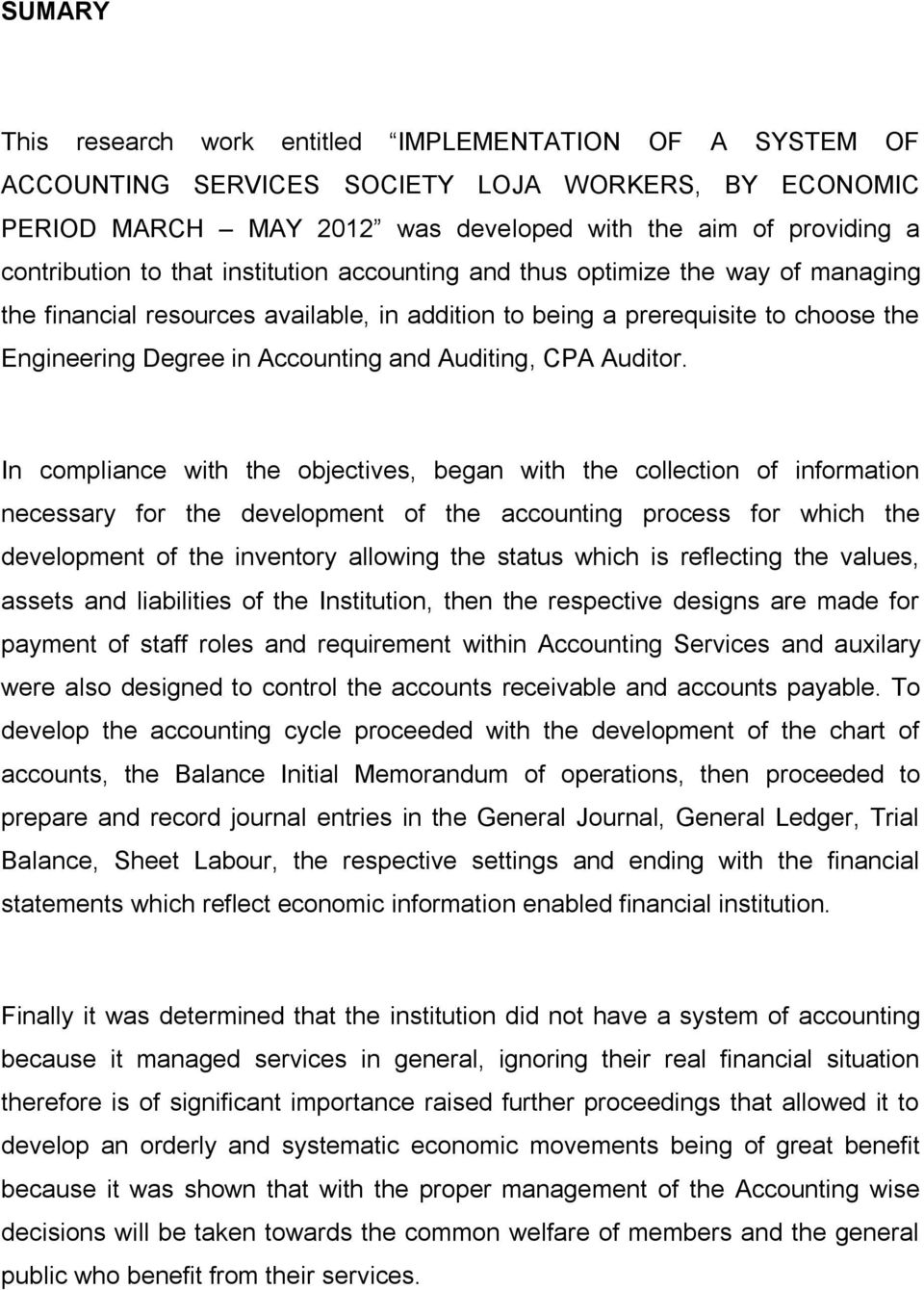 CPA Auditor.
