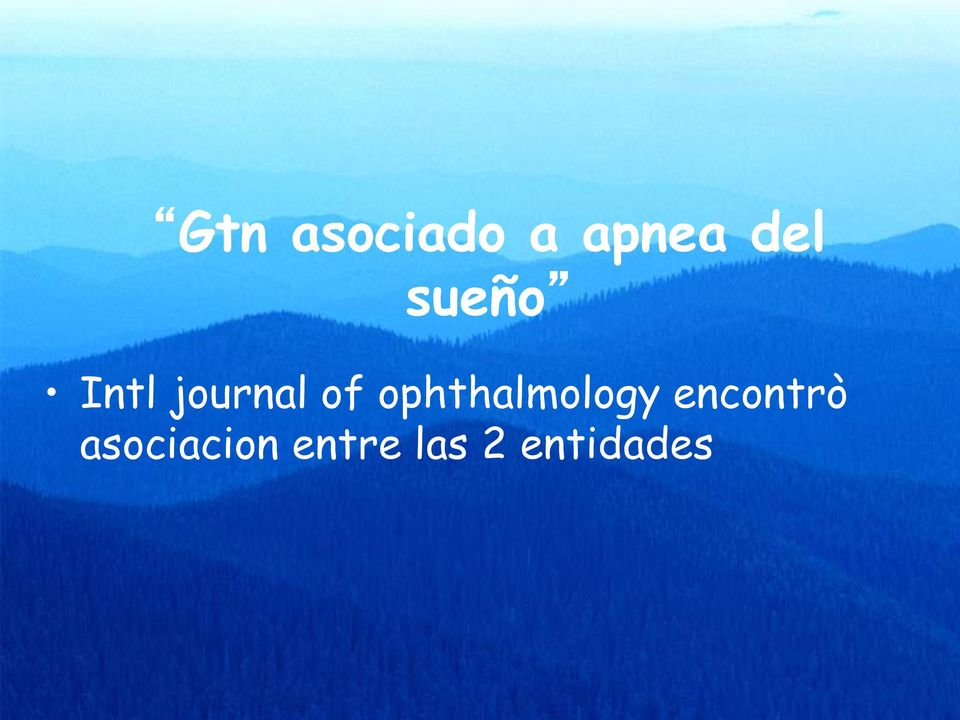ophthalmology encontrò