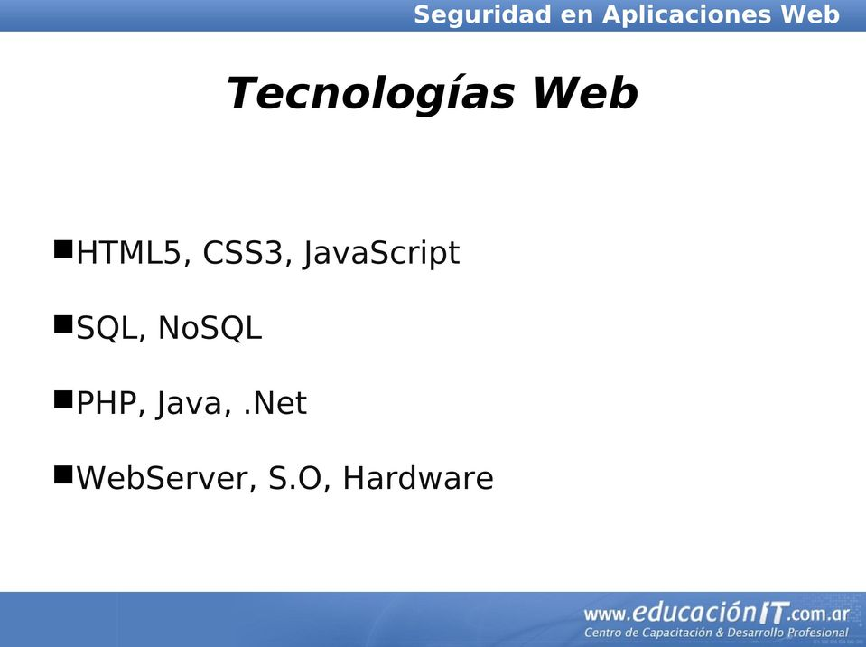 NoSQL PHP, Java,.
