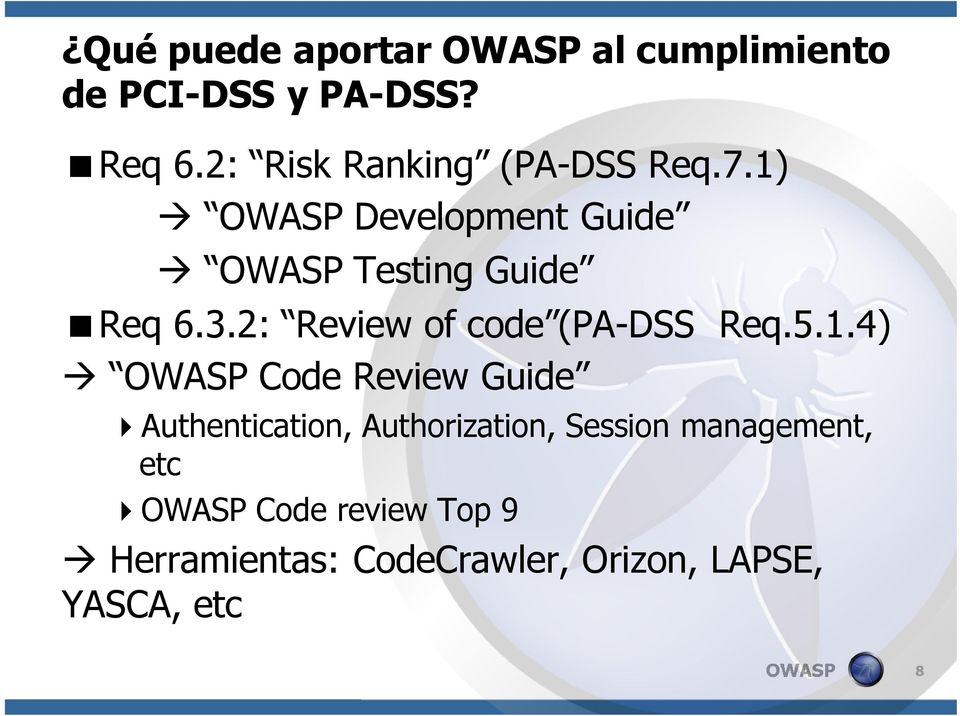 2: Review of code (PA-DSS Req.5.1.