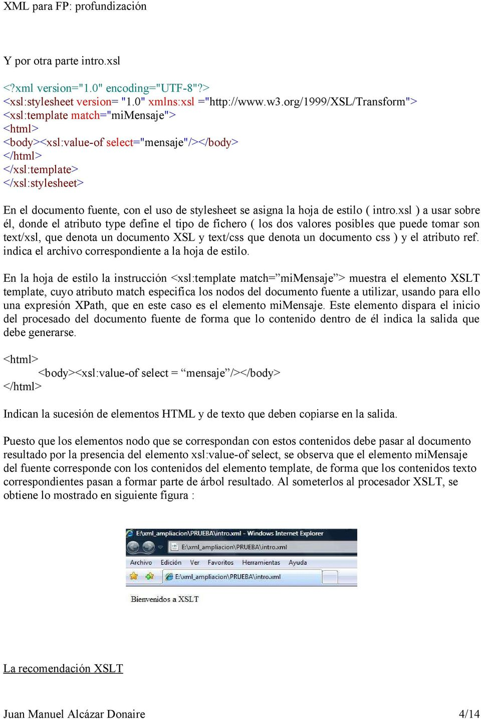 Transformación de documentos : XSLT - PDF