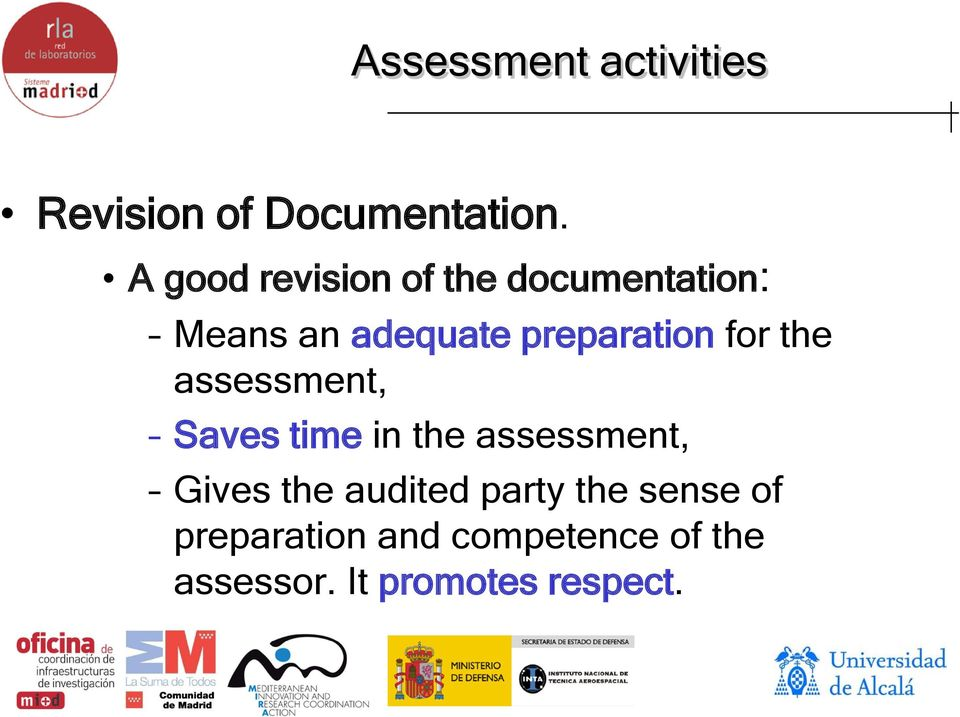 preparation for the assessment, Saves time in the assessment,