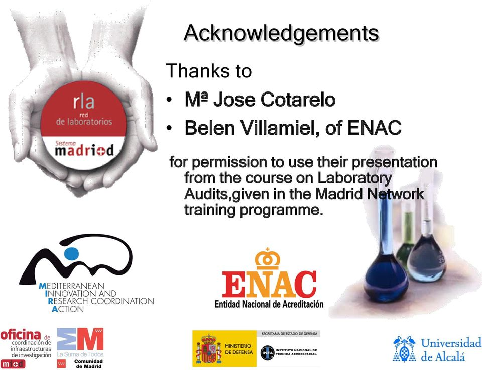 their presentation from the course on Laboratory
