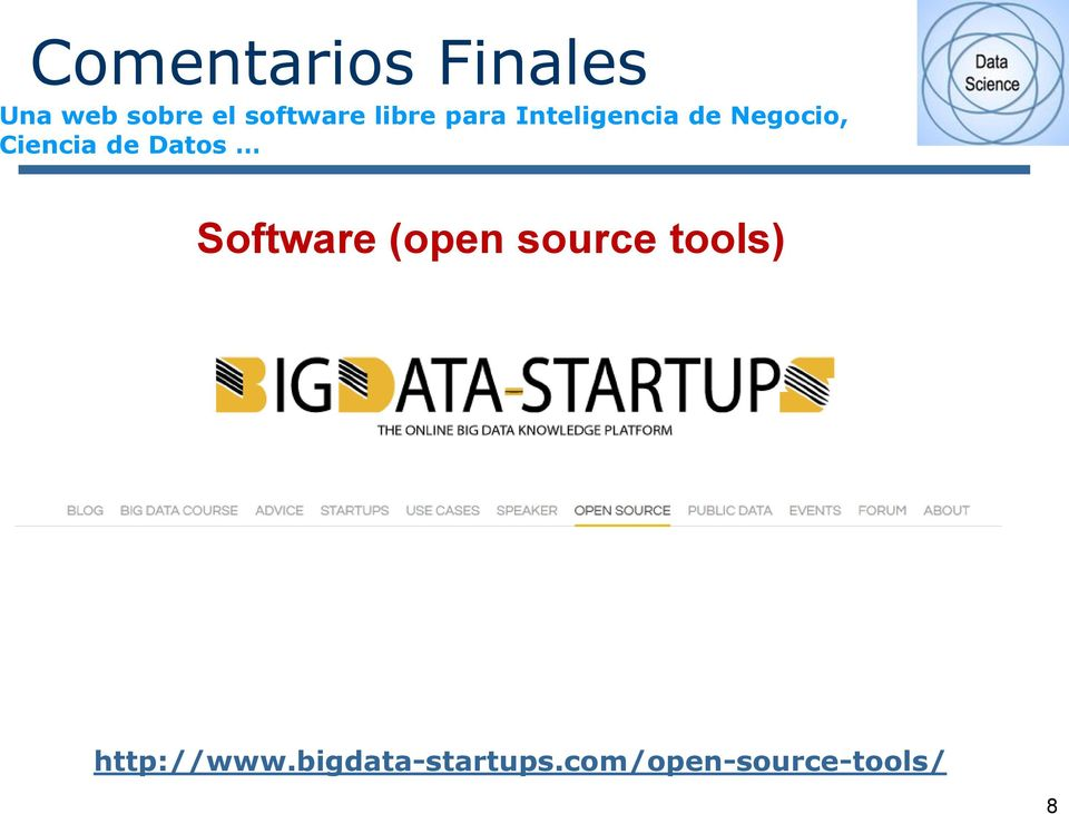 Datos Software (open source tools)
