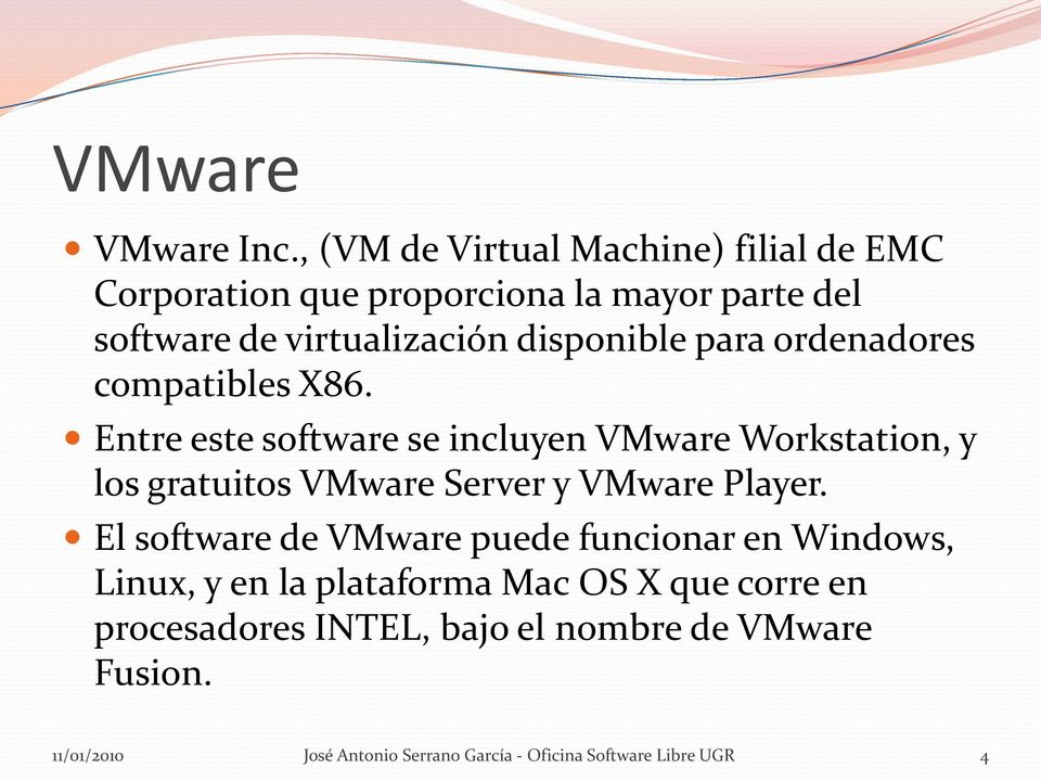 disponible para ordenadores compatibles X86.