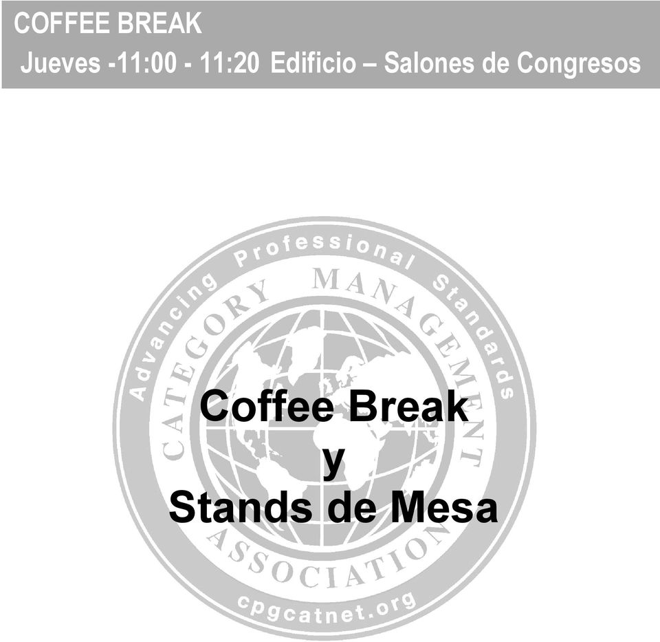 de Congresos Coffee Break