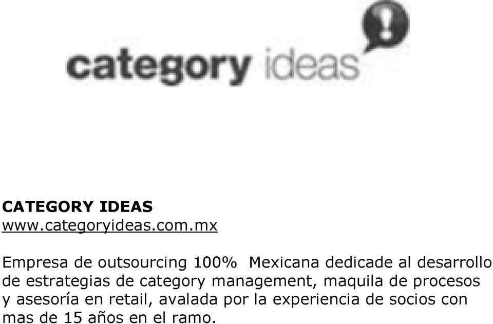 desarrollo de estrategias de category management, maquila de