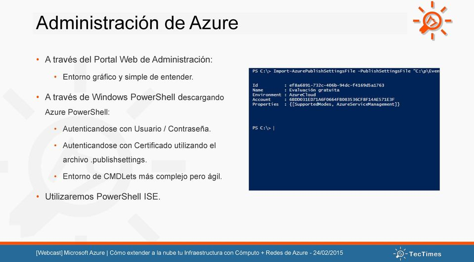 A través de Windows PowerShell descargando Azure PowerShell: Autenticandose con