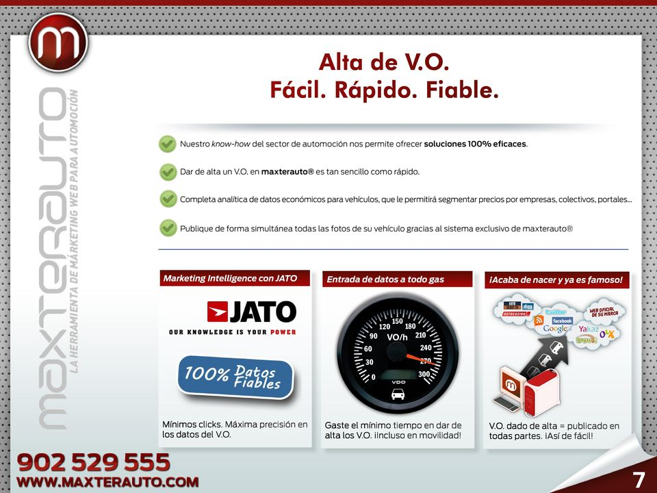 .. Publique de forma simultánea todas las fotos de su vehículo gracias al sistema exclusivo de maxterauto Marketing Intelligence con JATO Entrada de datos a todo gas Acaba