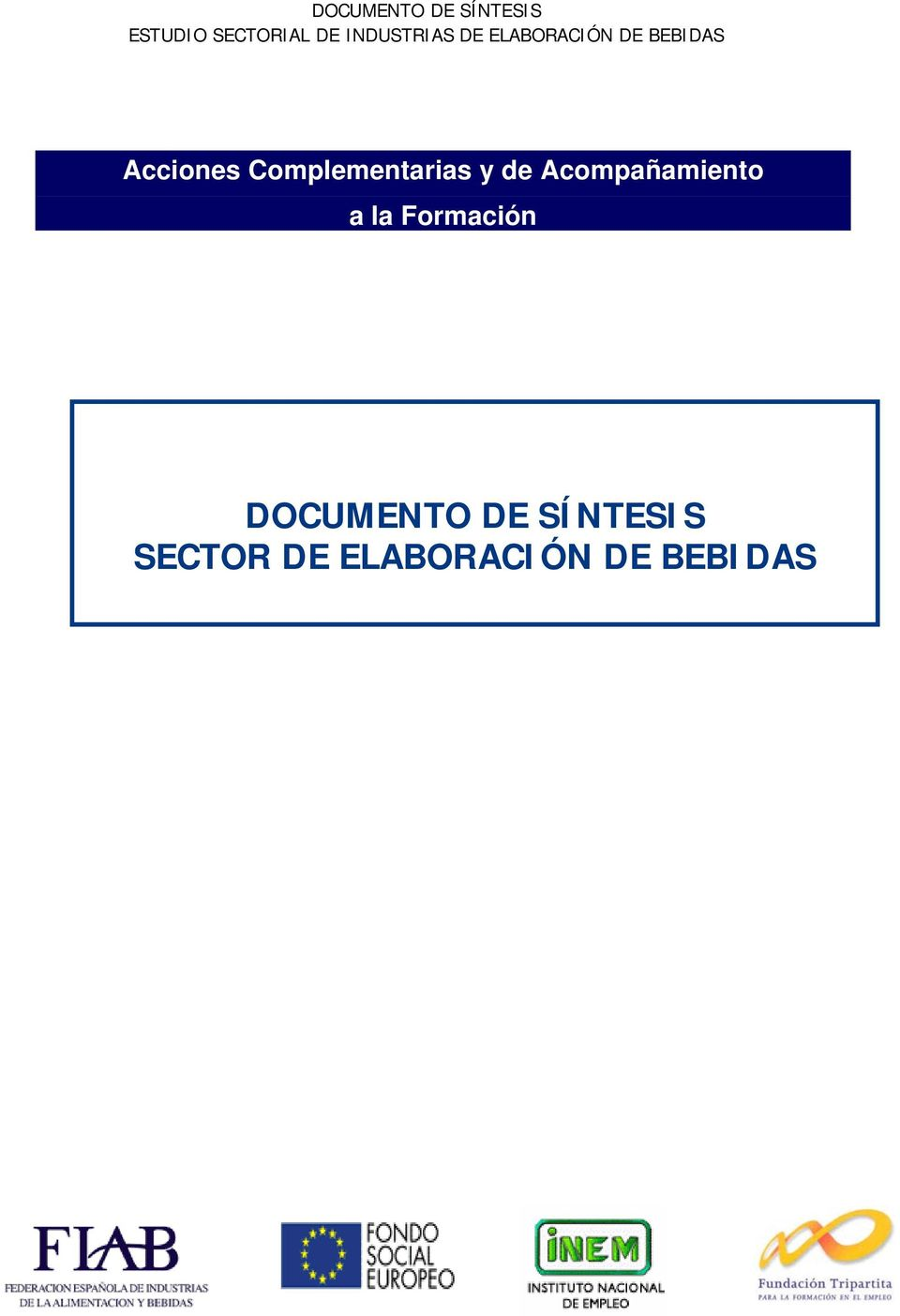 DOCUMENTO DE SÍNTESIS SECTOR DE
