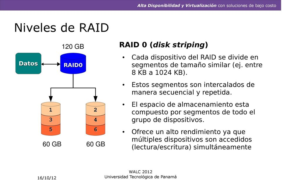 Estos segmentos son intercalados de manera secuencial y repetida.