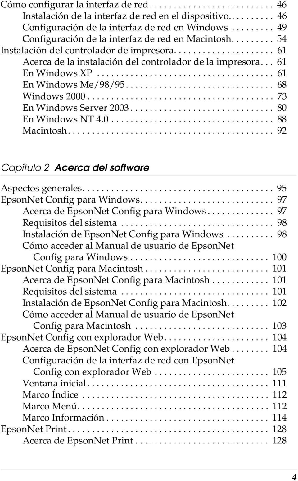 .. 61 En Windows XP..................................... 61 En Windows Me/98/95............................... 68 Windows 2000....................................... 73 En Windows Server 2003.