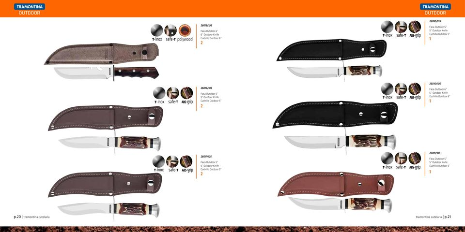 Faca Outdoor 6 6 Outdoor Knife Cuchillo Outdoor 6 2607/05 Faca Outdoor 5 5 Outdoor Knife Cuchillo Outdoor