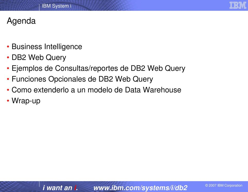 Query Funciones Opcionales de DB2 Web Query