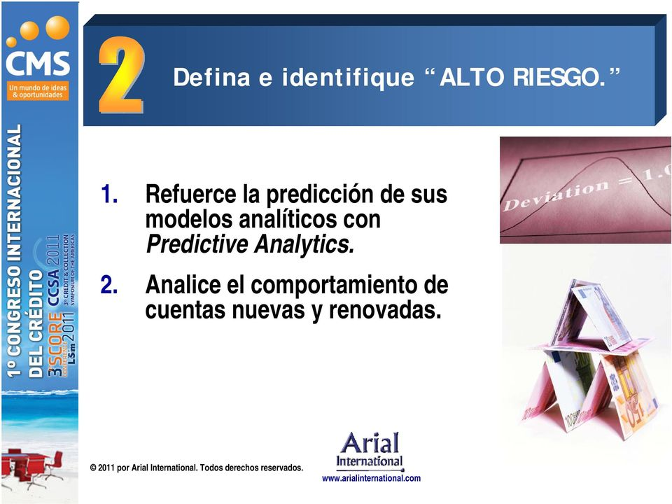 analíticos con Predictive Analytics. 2.