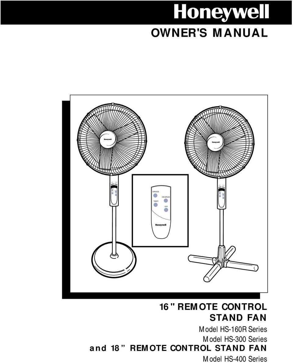 FAN Model HS-160R Series Model HS-300 Series and
